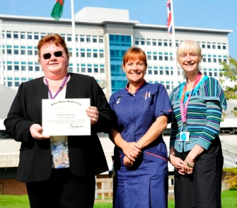 The UHB's Angela Stephenson, Sharon O'Brien and Linda Donovan.